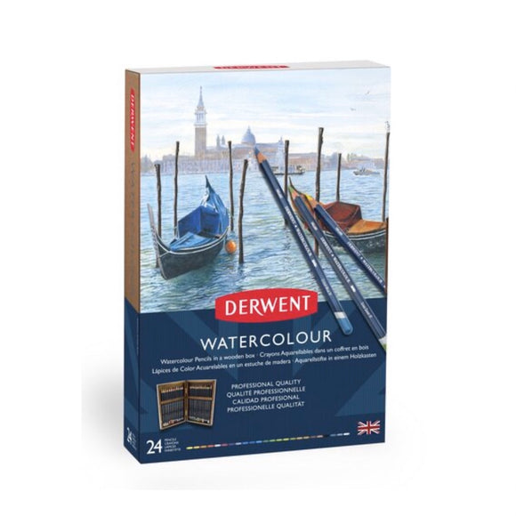 DERWENT Watercolour Wooden Box Sets