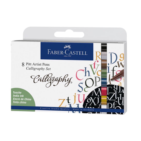 FABER-CASTELL Pitt Artist Calligraphy India Ink Pen Sets