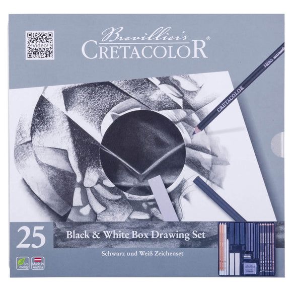 CRETACOLOR Black & White Drawing Box 25pc