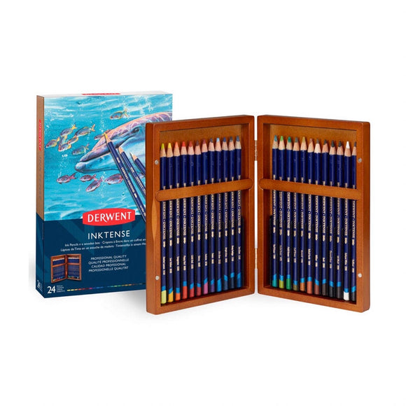 DERWENT Inktense Wooden Box Set