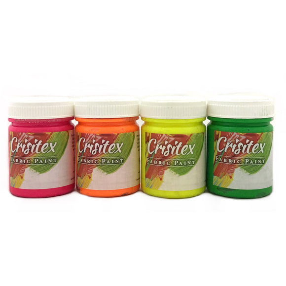 ZELLEN  Crisitex Fabric Paint Fluorescent Colours 60ml