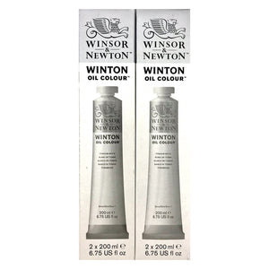 WINTON Oil Titanium White -  200ml Twinpack