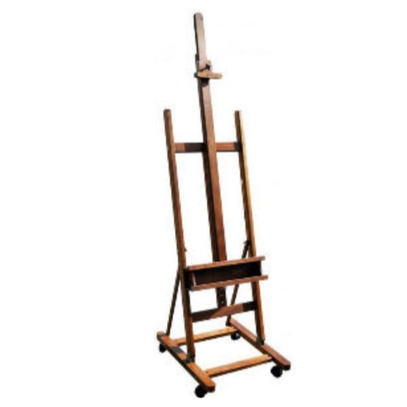 PRIME ART Wooden H-Frame Beach Wood Easel