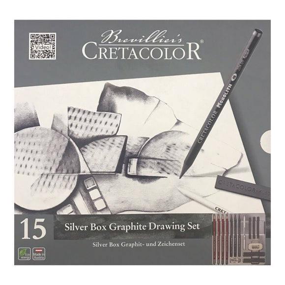 CRETACOLOR Silver Box Graphite Set 15 piece
