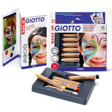 Giotto Décor Make-up Pencil Classic Set-FACE PAINT-Brush and Canvas
