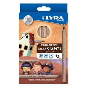 Lyra Skin Tone Giant Coloured Pencils-Colour Pencils-Brush and Canvas