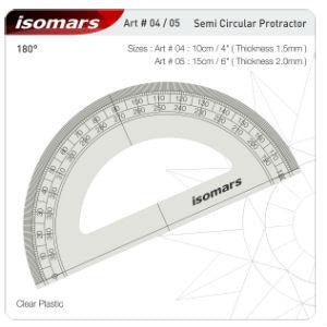 Isomars Semi Circle Protractor 16cm-Technical Drawing-Brush and Canvas