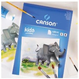 Canson Kids Painting Pad 200gsm-Drawing & Colouring-Brush and Canvas