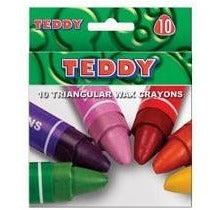 Teddy Triangular Wax Crayons 10 Piece-DRAWING & COLOURING-Brush and Canvas