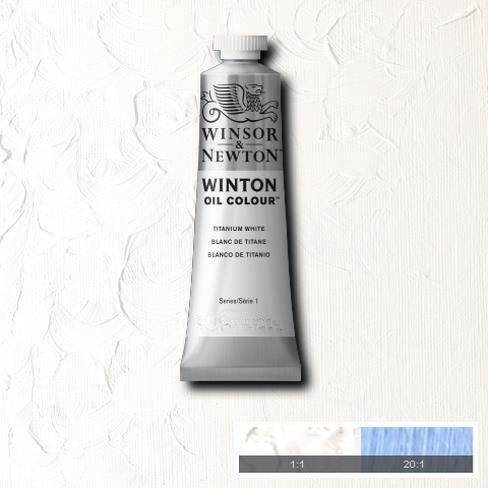Winton Oil Colour 200ml - Titanium White-Oil Colour-Brush and Canvas