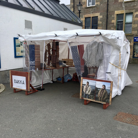 Market Stall during Shetland Wool Week