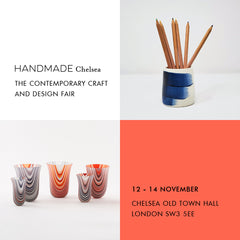 flyer for Handmade in Britain, Chelsea Old Town Hall, 12-14 November
