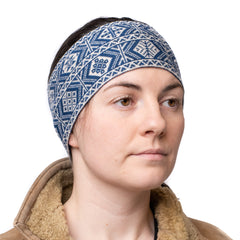 2-colour headband in traditional Fair Isle design