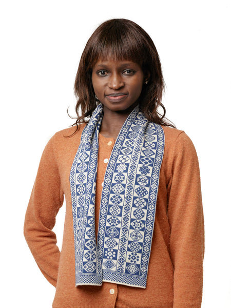 Family 3) - 2-colour Vertical Design Scarf - Mini -887 - BAKKA