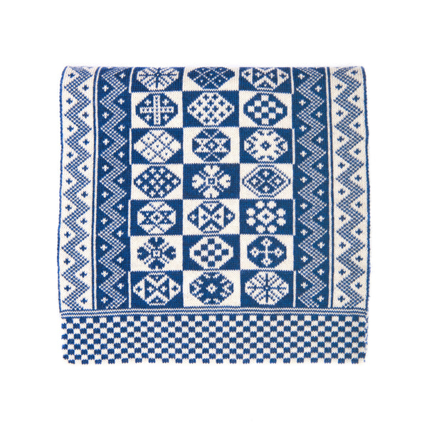 Family 8) - 2-colour Modern Design Scarf with Zigzag Edges - T888 - BAKKA