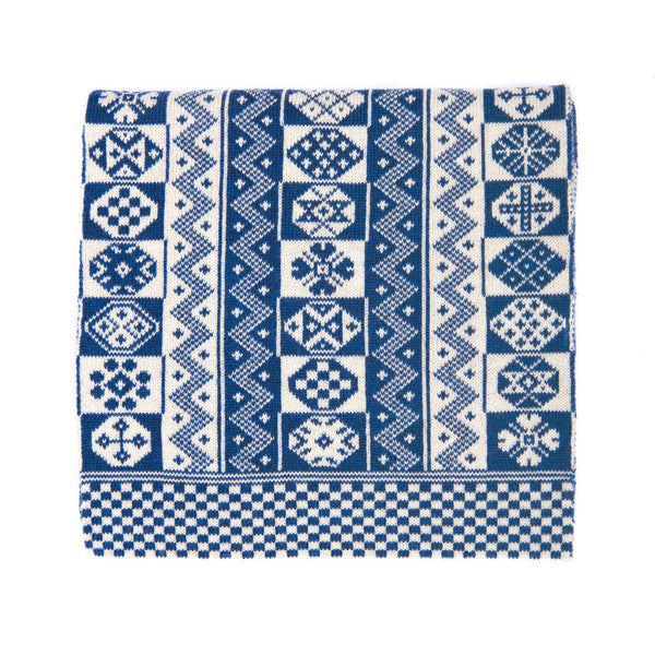 Family 8) - 2-colour Modern Design Scarf with Zigzag Motif - T889 - BAKKA