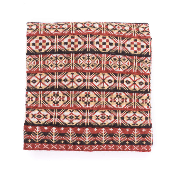 Family 7) - 4-colour Old Pattern Scarf with Large Motifs, Full Size - C950 - BAKKA