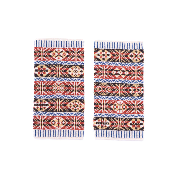 Family 1) - 5-Colour Wristwarmers Reversible Fair Isle - W1 - BAKKA