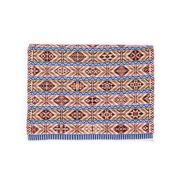 Family 1) - 5-colour Classic Design Scarf Reversible Fair Isle - TJ1 - BAKKA