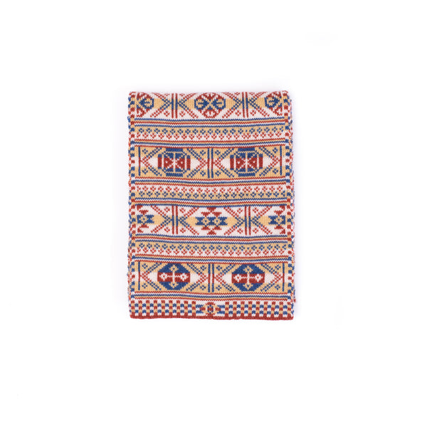 Family 2) - 4-colour Classic Design Scarf in Reversible Fair Isle - Mini - TJ2mini - BAKKA