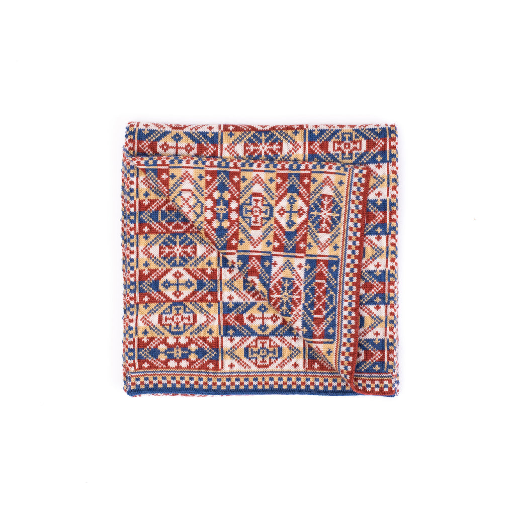 Family 4) - Reversible Fair Isle Mini Scarf - TJ3mini - BAKKA