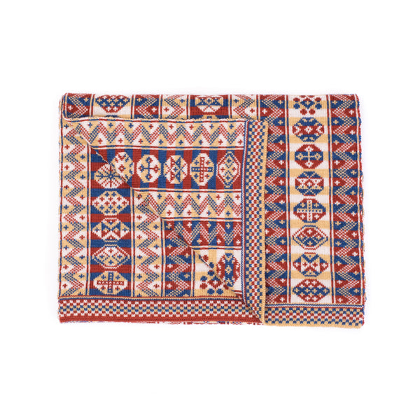 Family 8) - 4-colour Reversible Fair Isle Scarf with Colours Inverted in Each Column - TJ8 - BAKKA