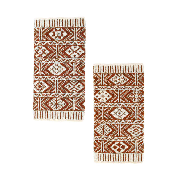 Family 1) - 2-colour Wristwarmers with varying motifs - WEBJ - BAKKA