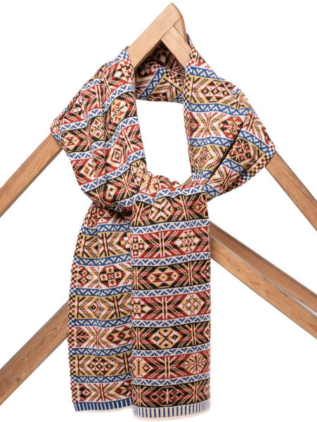 Design 1) - 5-colour Classic Design Mini Scarf Reversible Fair Isle - TJ1mini - BAKKA