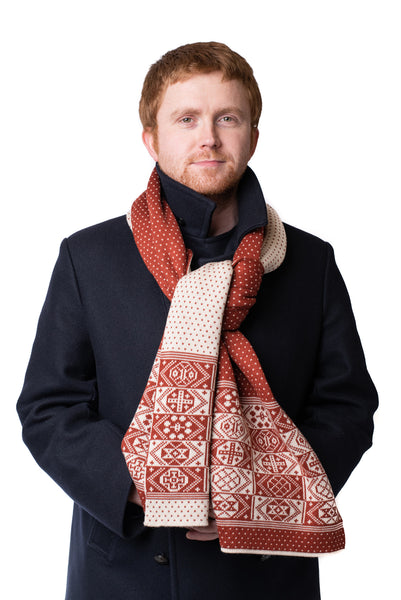 Design 4 - Thick 2-colour Scarf - BAKKA