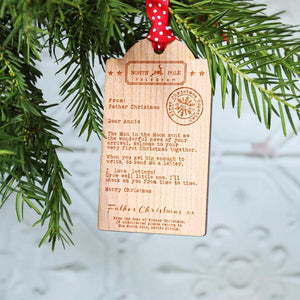 Our Personalised Christmas Wooden Tag Decorations are Flying!