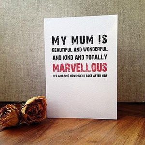 'My Mum is Marvellous' Card