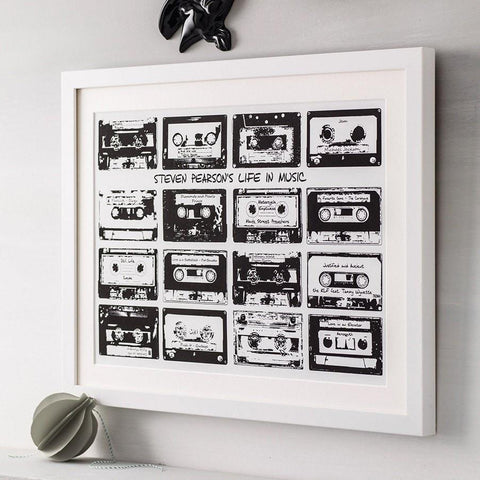 Personalised Cassette Print