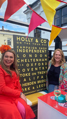 Holly Tucker and Betsy Benn on the campaign shop independent bus