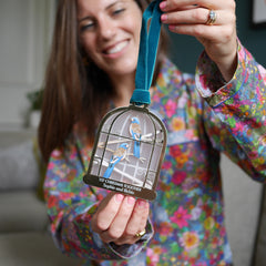 Birdcage first christmas together decoration
