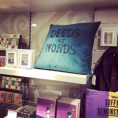 Deeds Not Words Velvet Cushion