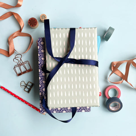 fully wrapped notebook gift