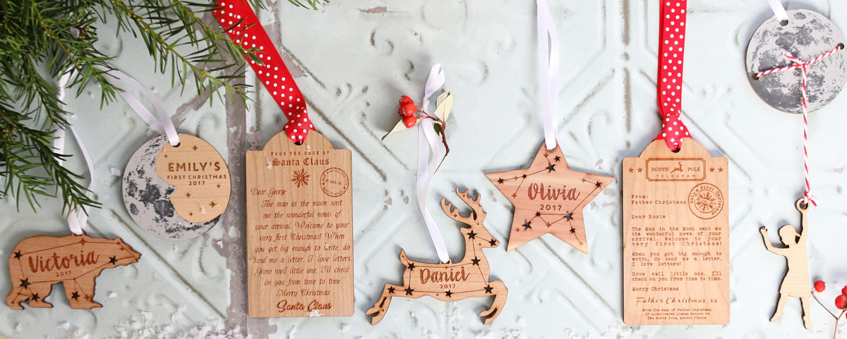 Personalised Christmas Ornaments by Betsy Benn