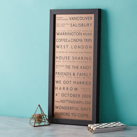 betsy benn bronze personalised destination print