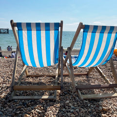 deck chairs on Brighton sea front