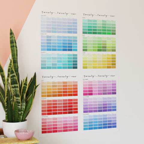 paint chip inspired pantone giant wall planner