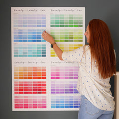 Paint chip wall planner
