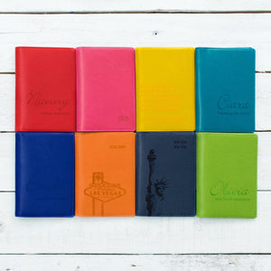 Passport wallet colour options