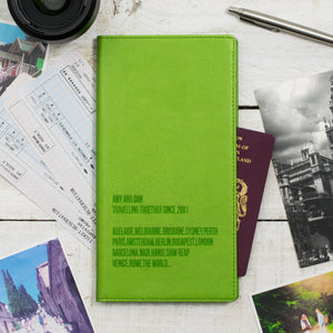 Apple green Travel Wallet