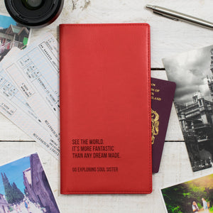 Strawberry Red Travel document wallet