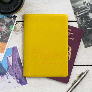Buttercup Script Passport Cover