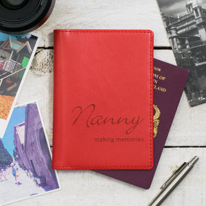 Strawberry Script Passport Cover