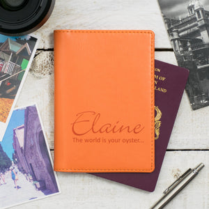 Pumpkin Script Passport Cover