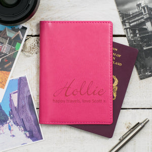 Raspberry Script Passport Cover