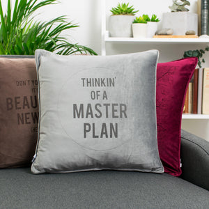 Favourite Song Pop Lyrics Personalised Velvet Cushion