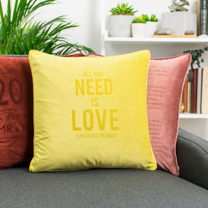 Favourite Song Pop Lyrics Personalised Velvet Cushion  Home - Betsy Benn